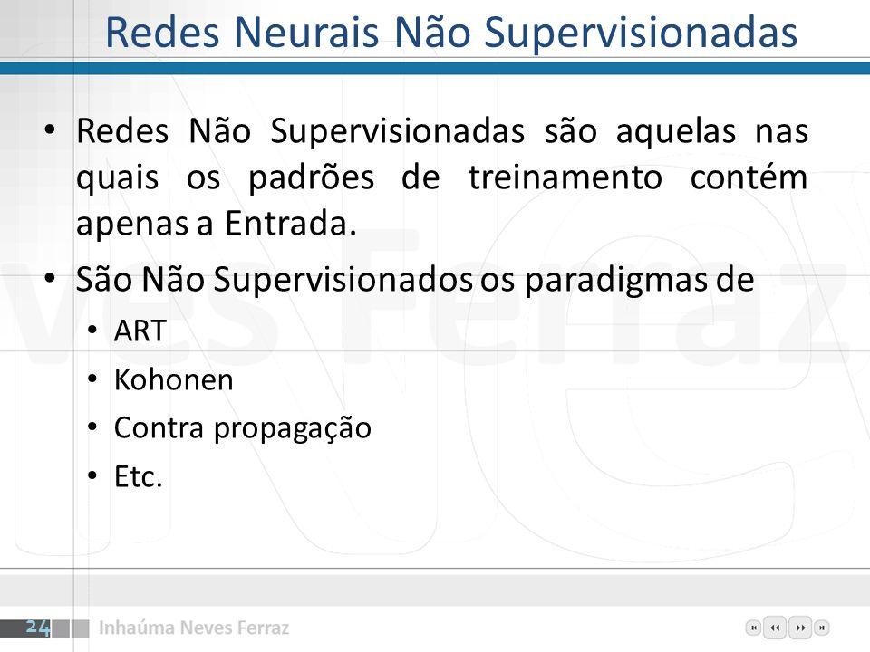 Redes Neurais Não Supervisionadas