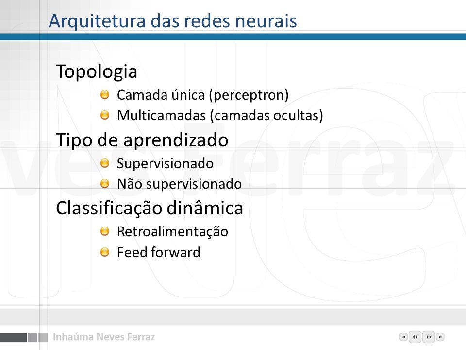 Arquitetura das redes neurais