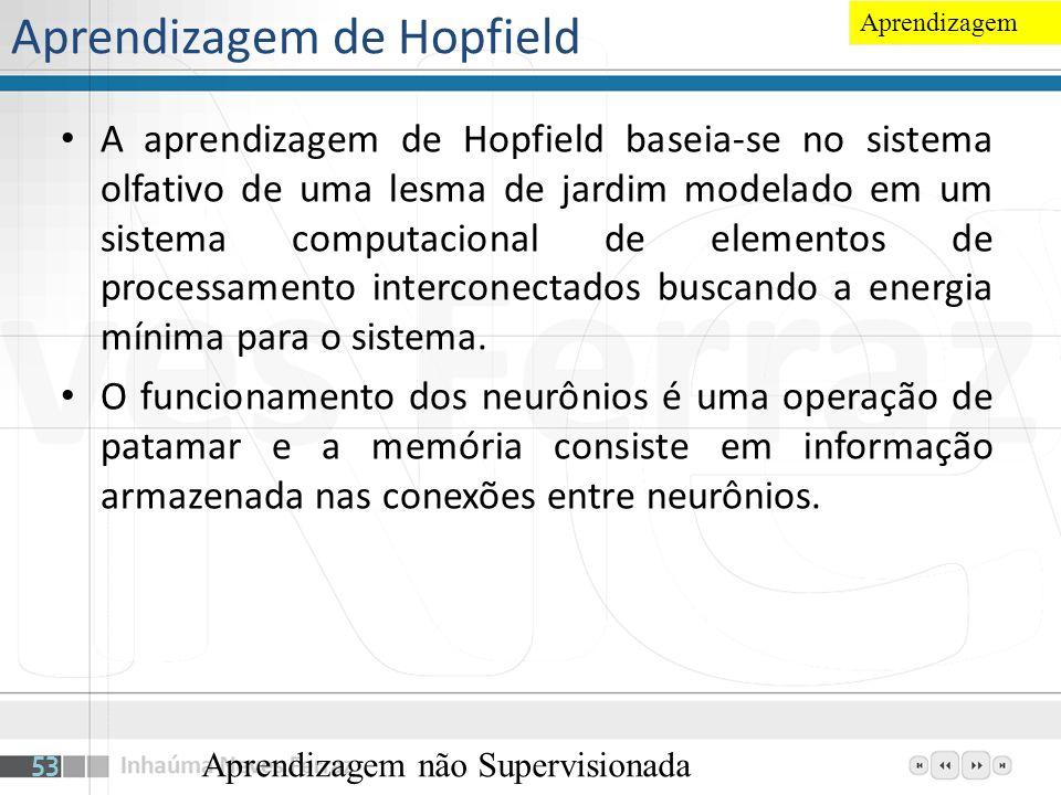 Aprendizagem de Hopfield