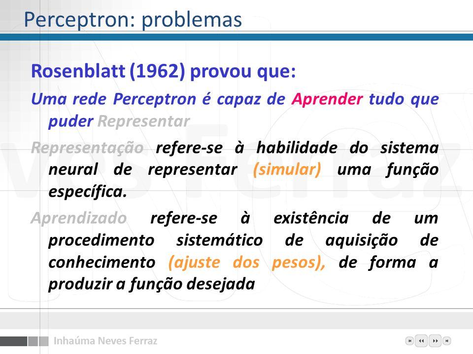 Perceptron: problemas