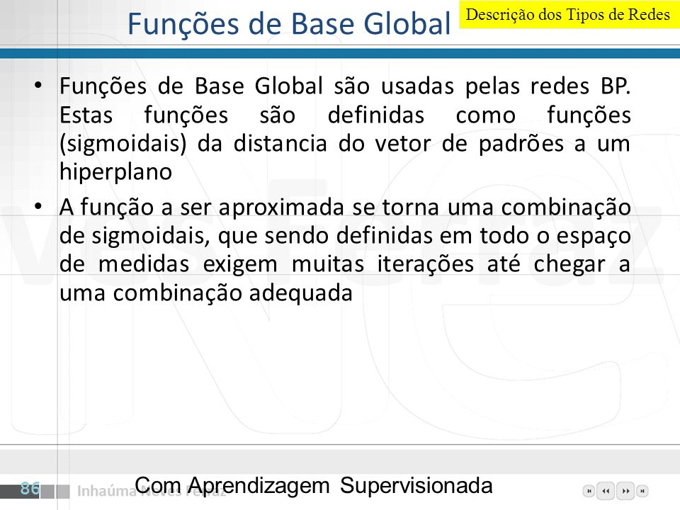 Funções de Base Global Descrição dos Tipos de Redes.