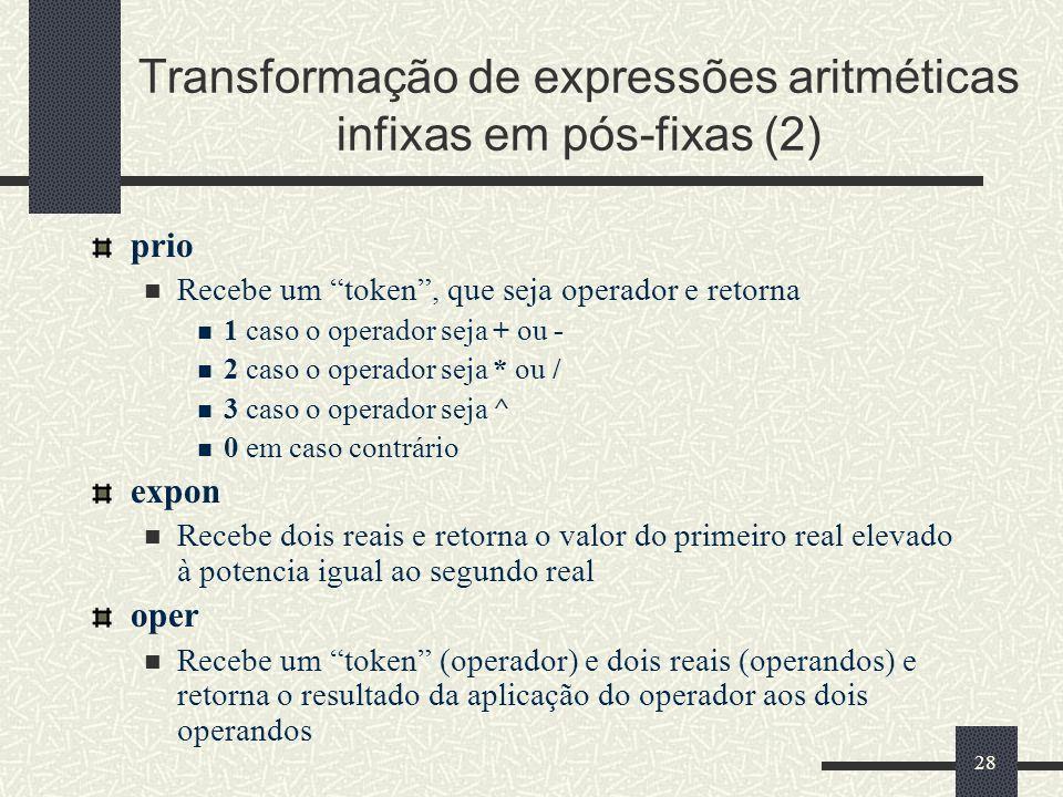 Transformação de expressões aritméticas infixas em pós-fixas (2)