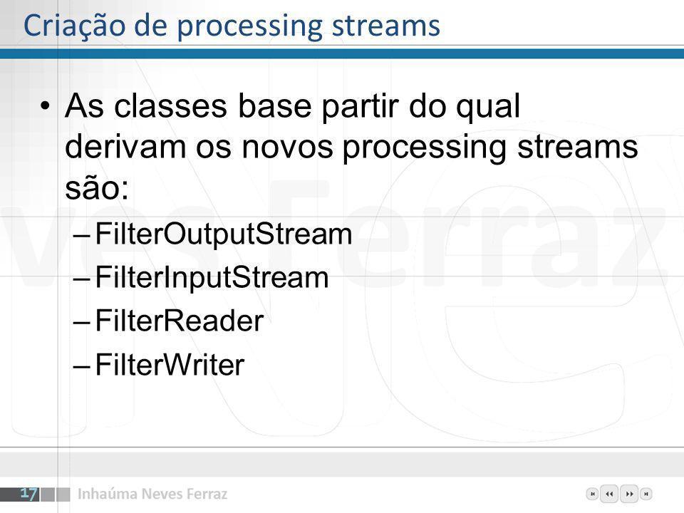 Criação de processing streams