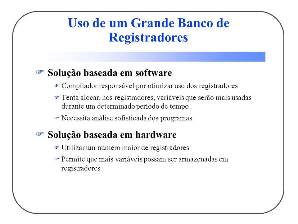 Uso de um Grande Banco de Registradores