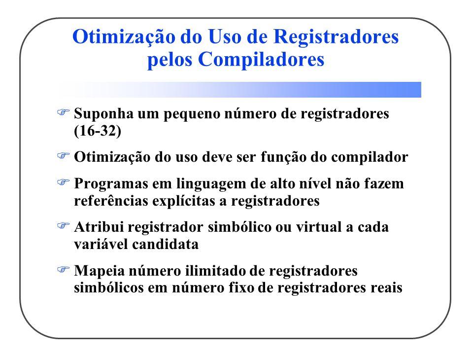 Otimização do Uso de Registradores pelos Compiladores