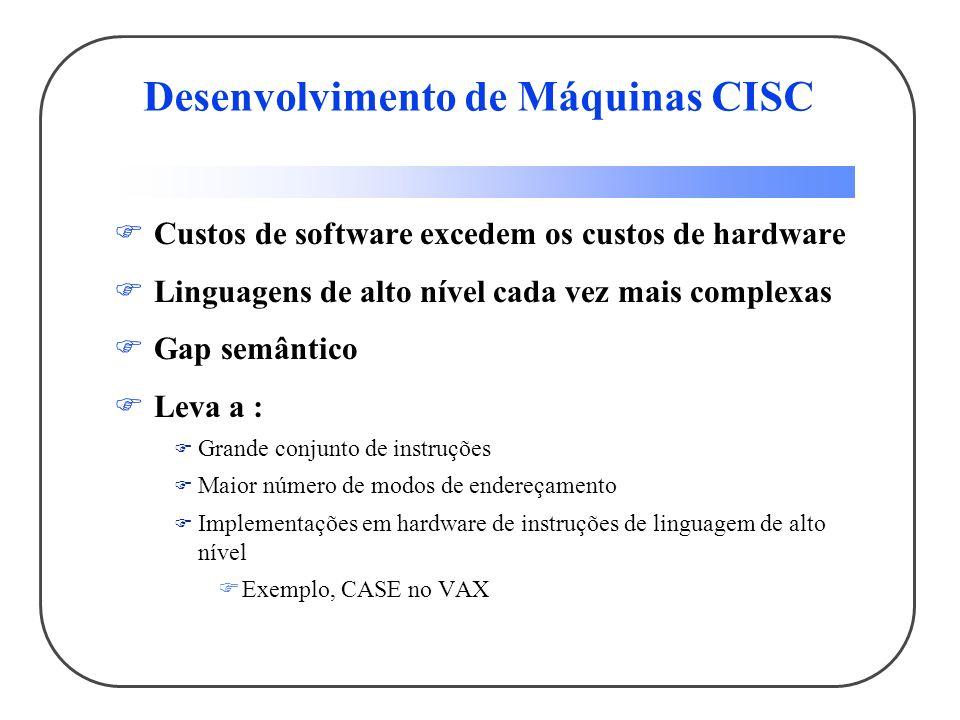 Desenvolvimento de Máquinas CISC
