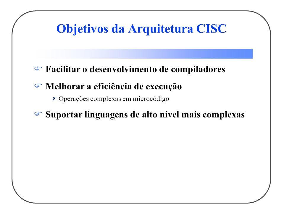 Objetivos da Arquitetura CISC
