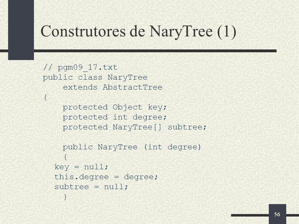 Construtores de NaryTree (1)