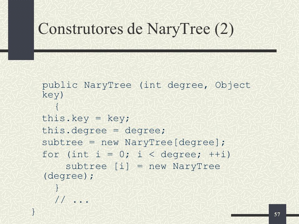 Construtores de NaryTree (2)
