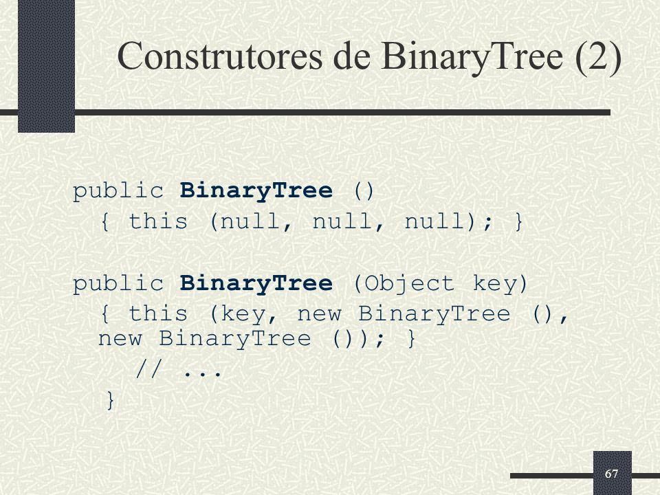 Construtores de BinaryTree (2)