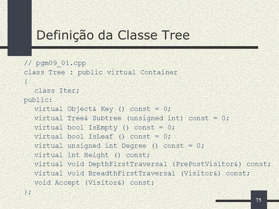 Definição da Classe Tree