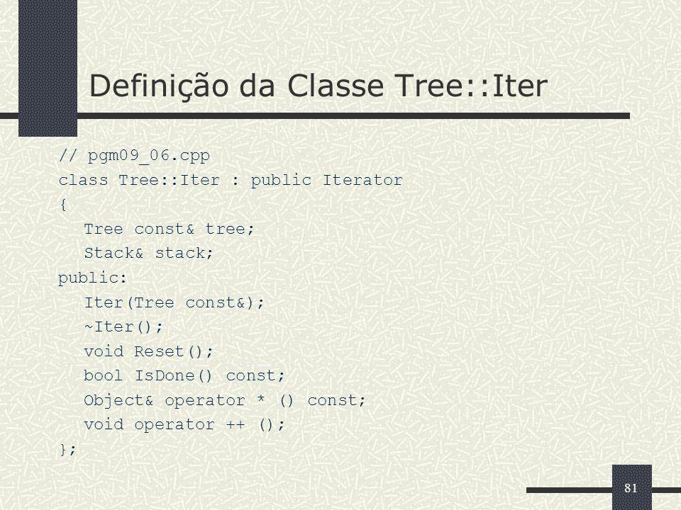 Definição da Classe Tree::Iter