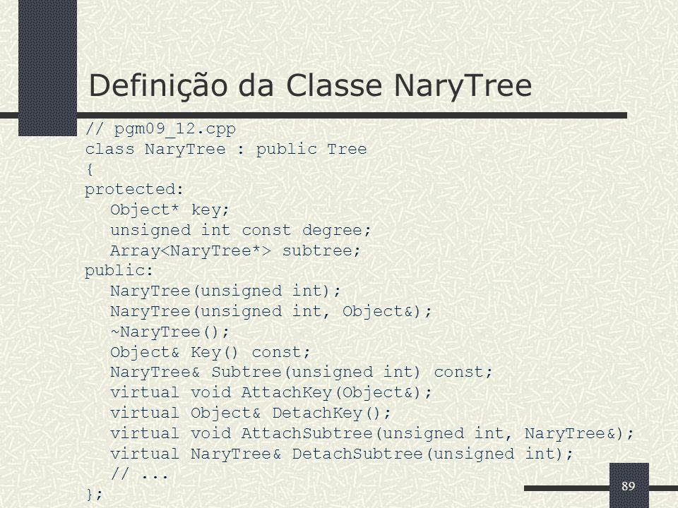 Definição da Classe NaryTree