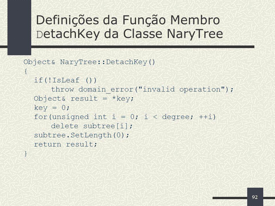 Definições da Função Membro DetachKey da Classe NaryTree