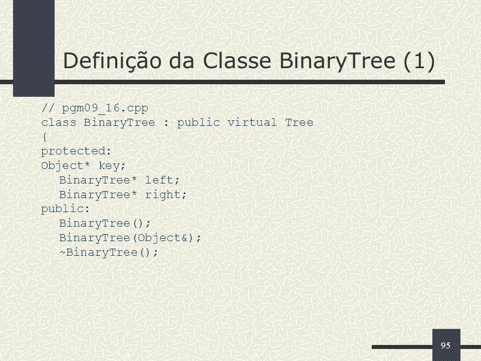 Definição da Classe BinaryTree (1)
