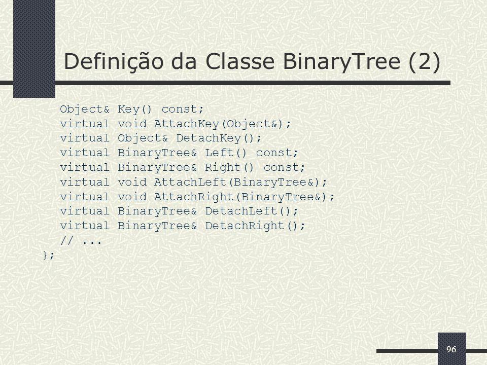 Definição da Classe BinaryTree (2)