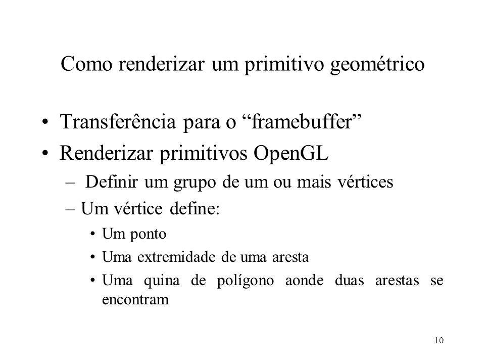 Como renderizar um primitivo geométrico