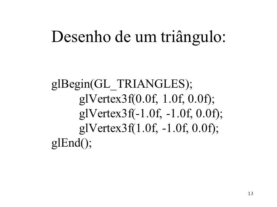 Desenho de um triângulo:
