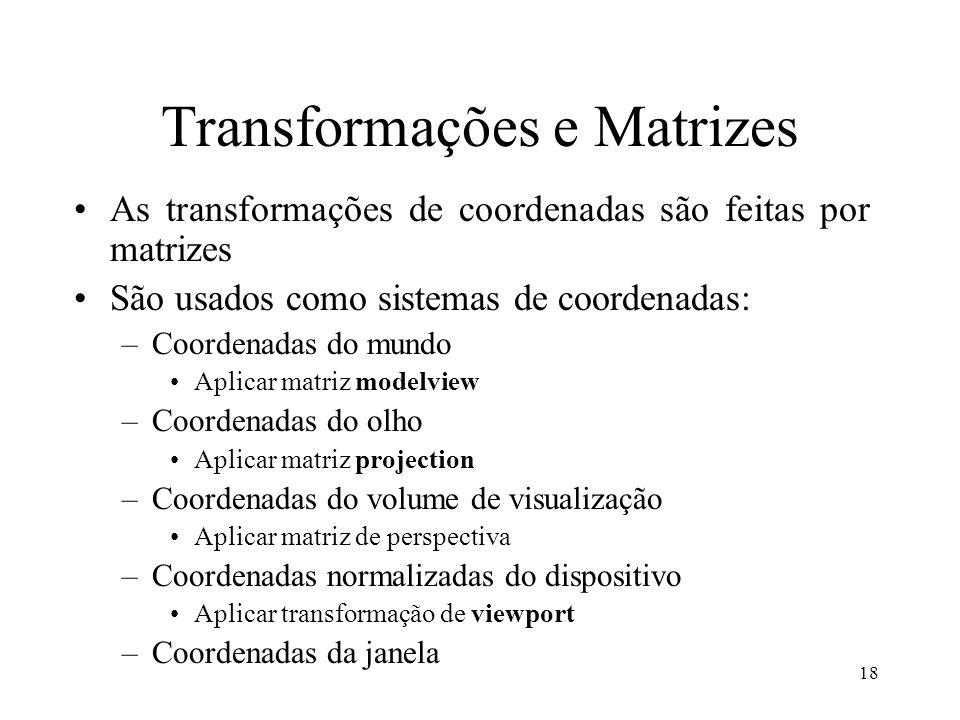 Transformações e Matrizes