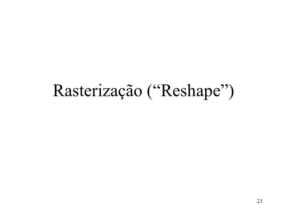 Rasterização ( Reshape )