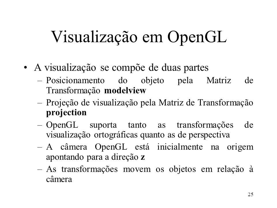Visualização em OpenGL