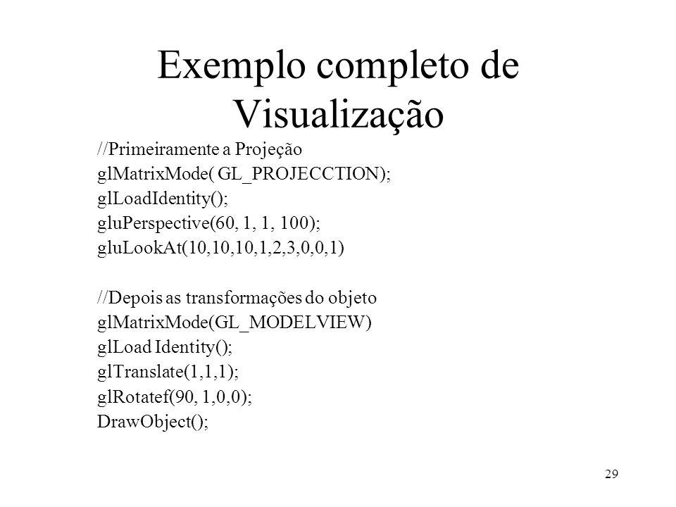 Exemplo completo de Visualização