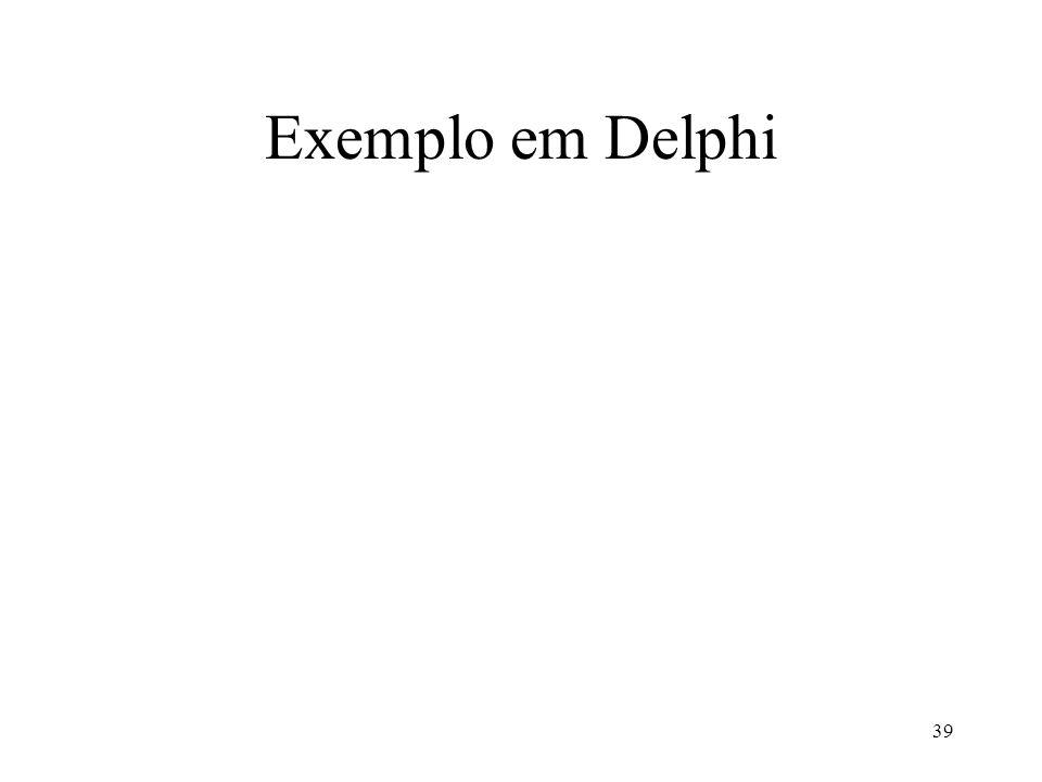Exemplo em Delphi