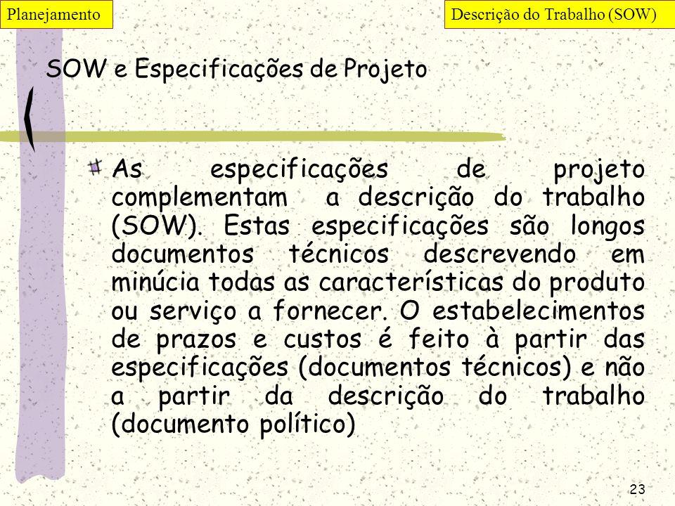 SOW e Especificações de Projeto