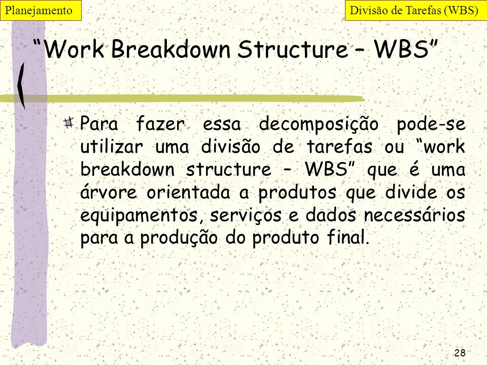 Work Breakdown Structure – WBS