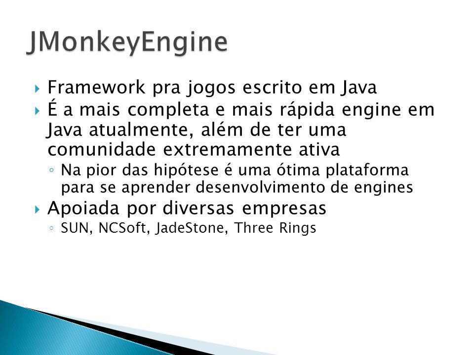 JMonkeyEngine Framework pra jogos escrito em Java