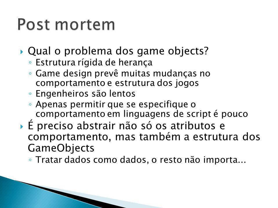 Post mortem Qual o problema dos game objects