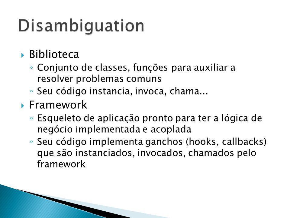 Disambiguation Biblioteca Framework