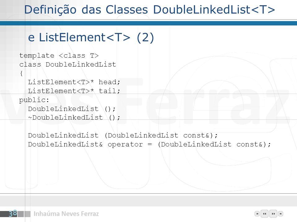 Definição das Classes DoubleLinkedList<T> e ListElement<T> (2)