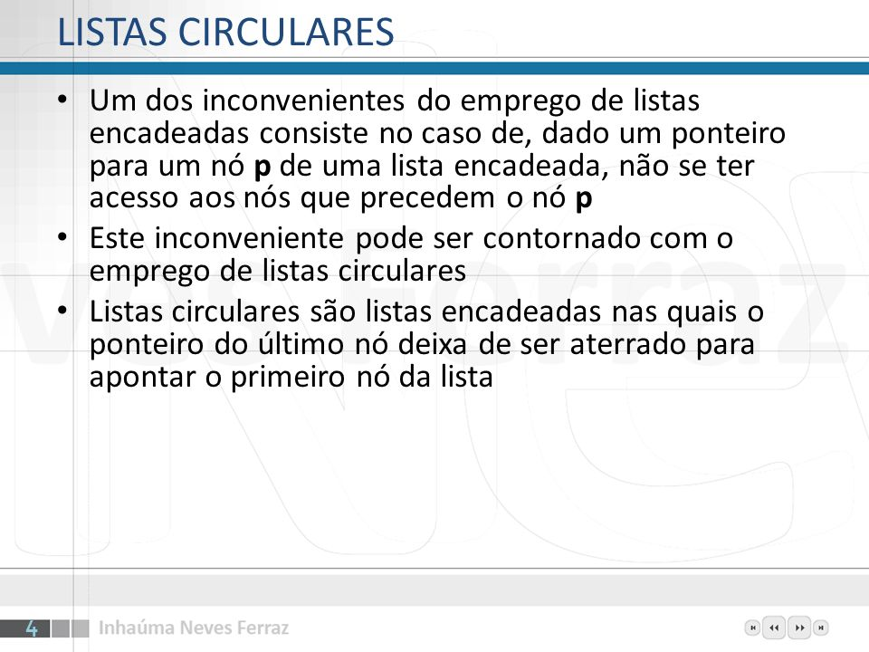LISTAS CIRCULARES