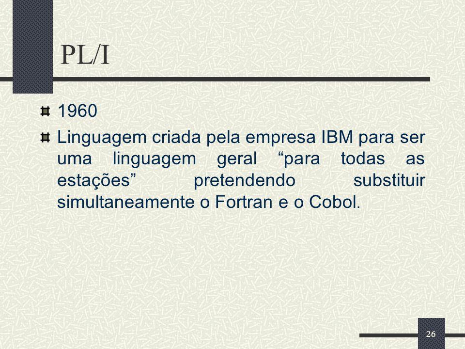 PL/I 1960.