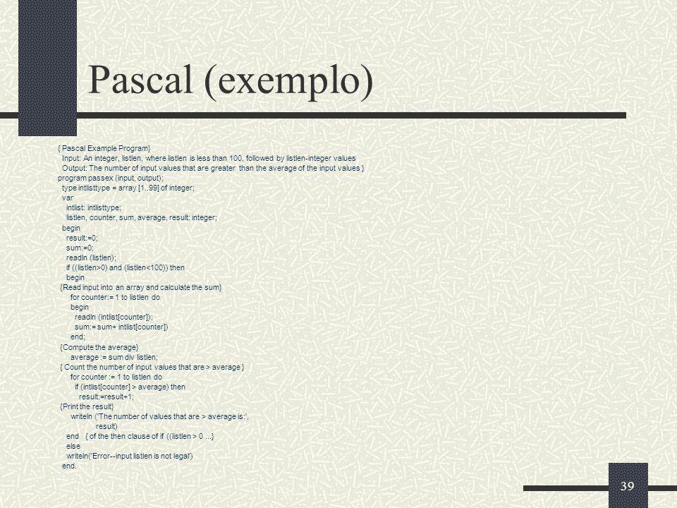 Pascal (exemplo) { Pascal Example Program}