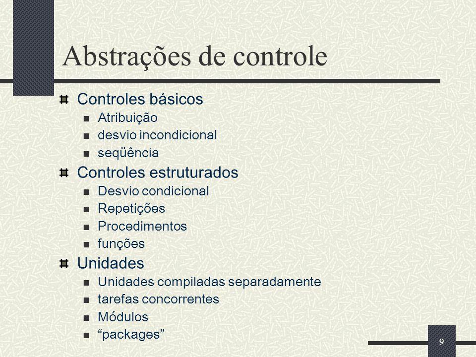 Abstrações de controle