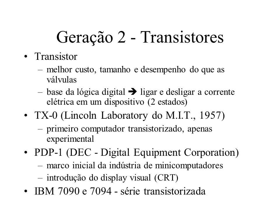 Geração 2 - Transistores
