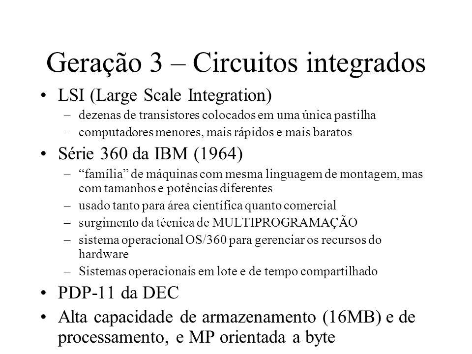 Geração 3 – Circuitos integrados