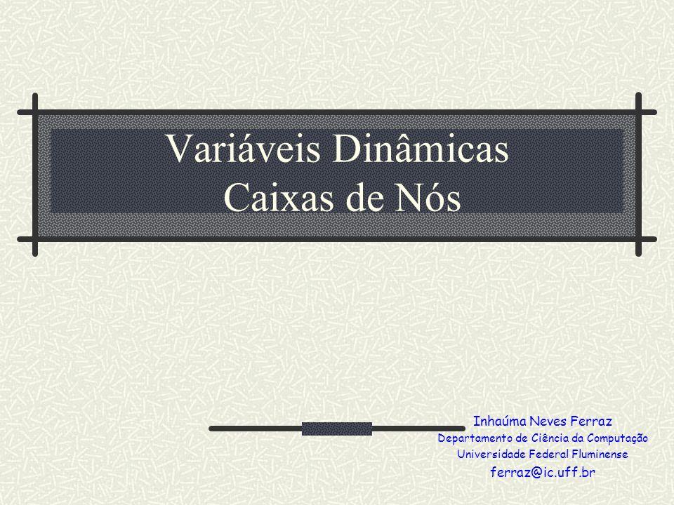 Variáveis Dinâmicas Caixas de Nós