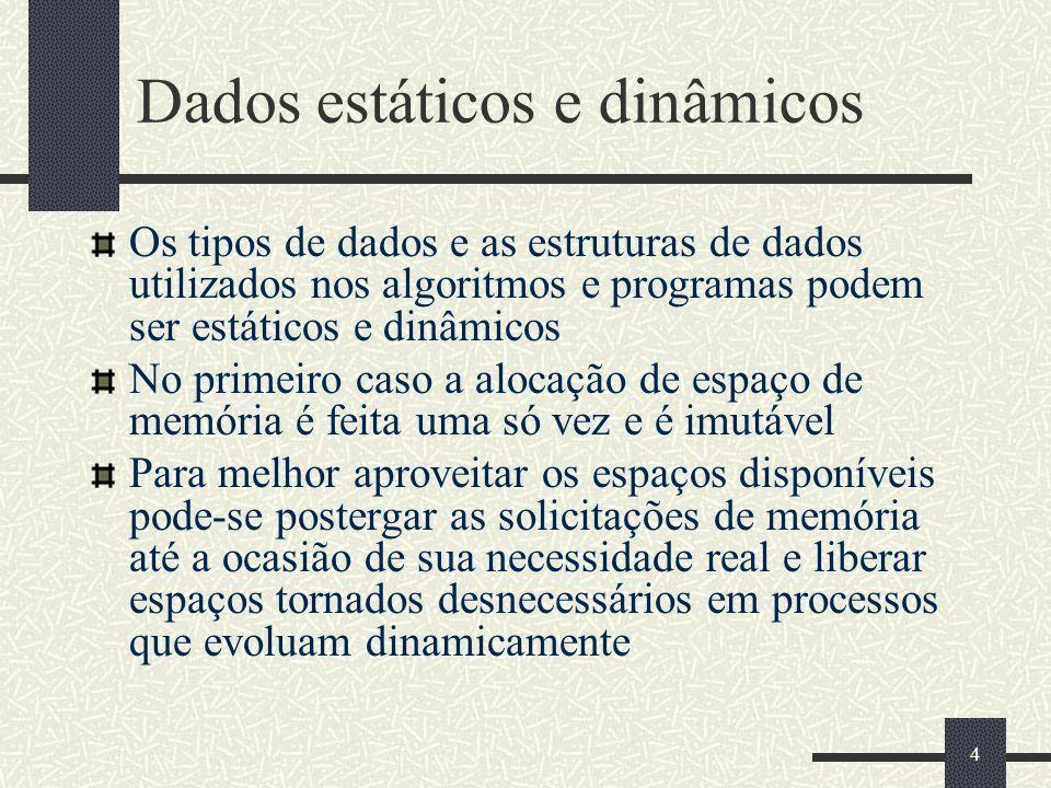 Dados estáticos e dinâmicos