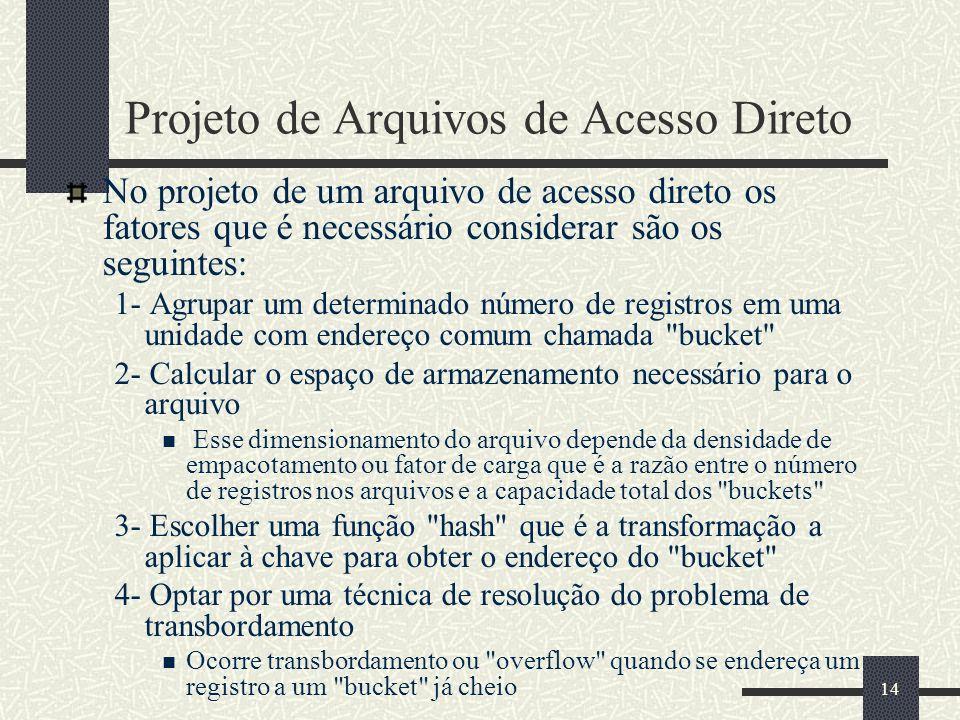Projeto de Arquivos de Acesso Direto