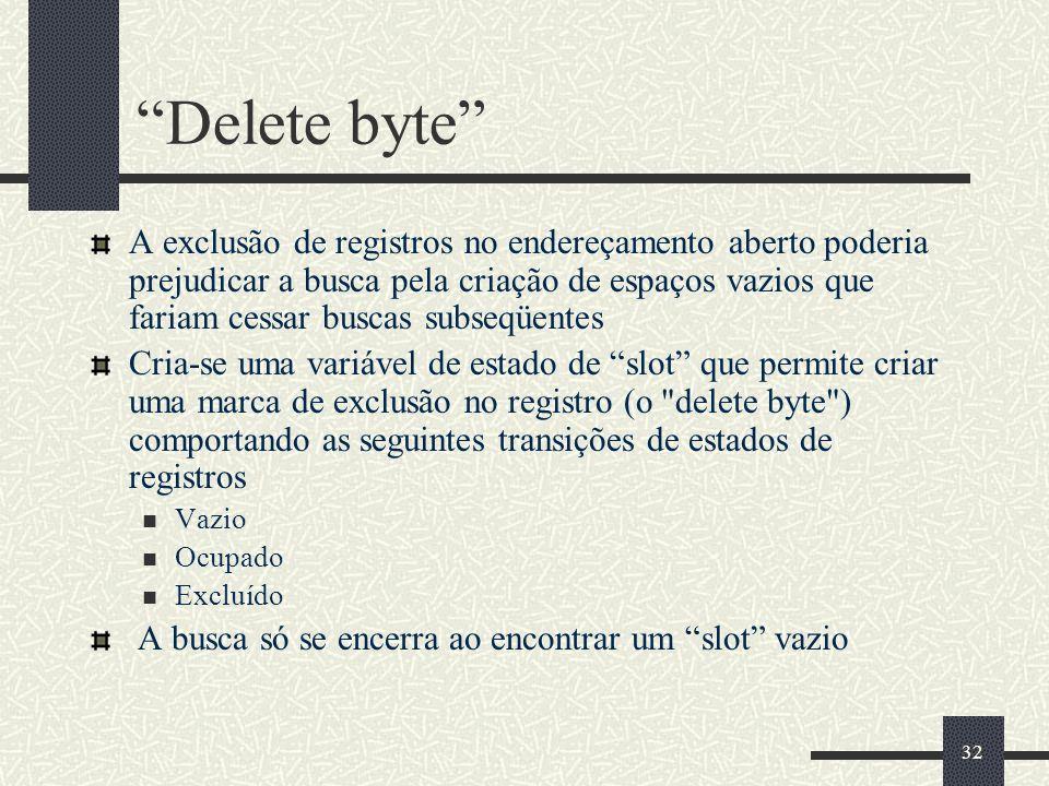 Delete byte