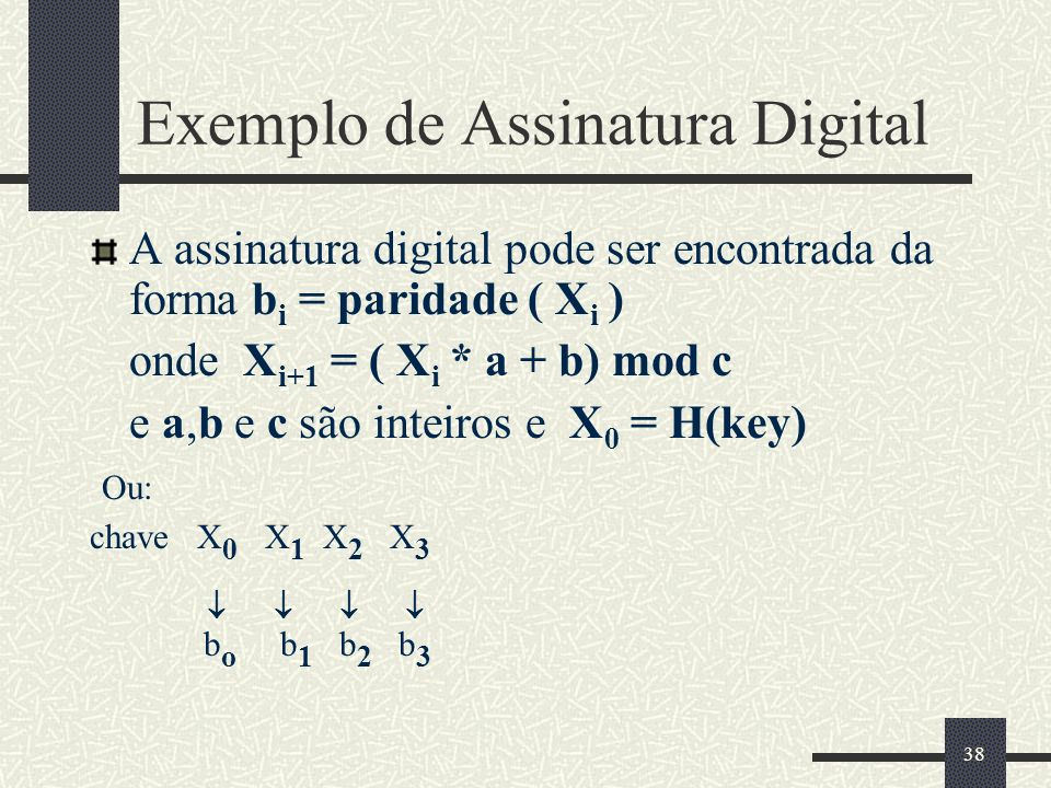 Exemplo de Assinatura Digital