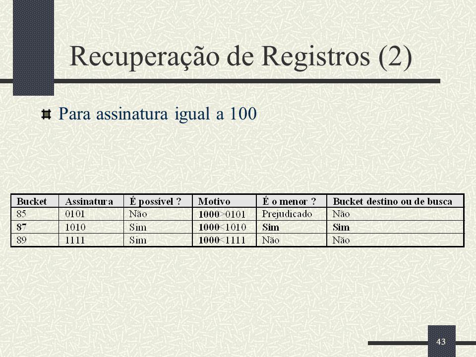 Recuperação de Registros (2)