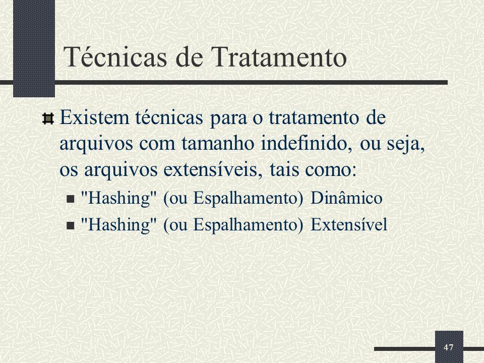 Técnicas de Tratamento