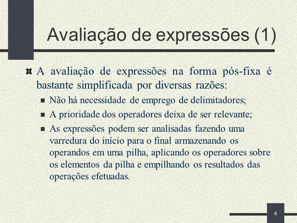 Avaliação de expressões (1)