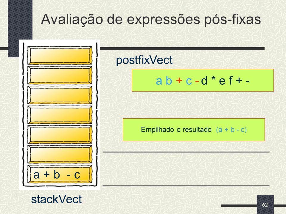 Avaliação de expressões pós-fixas