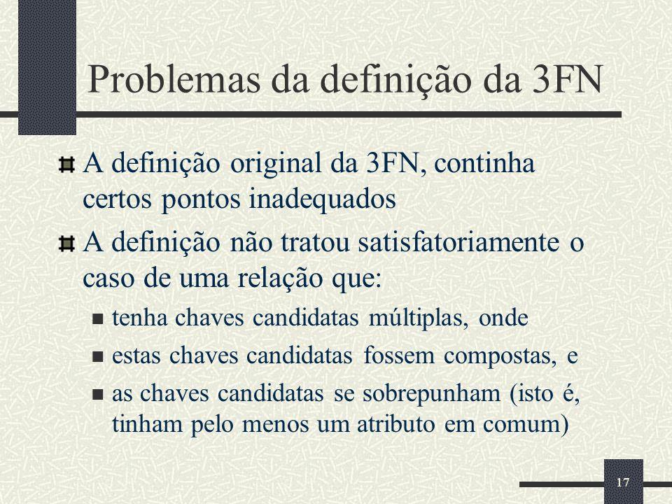 Problemas da definição da 3FN