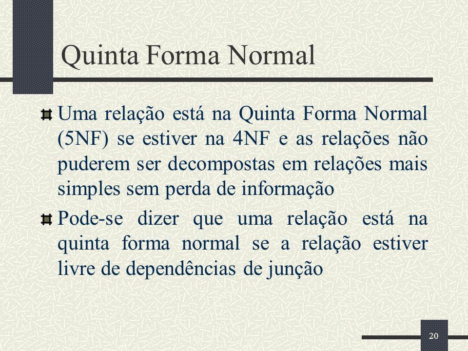 Quinta Forma Normal
